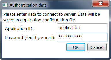 Authentication data