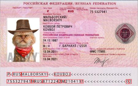 Russian Federation foreign passport