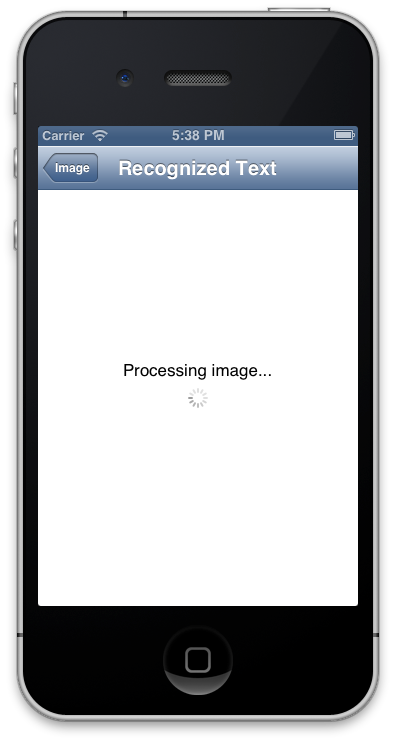 OCR on iphone